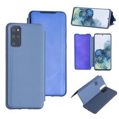 Samsung Galaxy S20 Plus Lichtblauw Booktype hoesje - Hard plastic