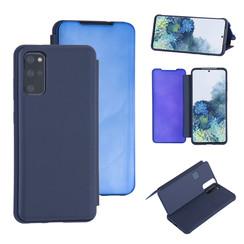 Samsung Galaxy S20 Plus Diepblauw Booktype hoesje - Hard plastic