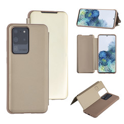 Samsung Galaxy S20 Ultra Goud Booktype hoesje - Hard plastic
