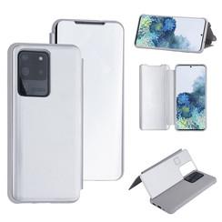 Samsung Galaxy S20 Ultra Zilver Booktype hoesje - Hard plastic