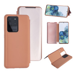 Samsung Galaxy S20 Ultra Rose Gold Booktype hoesje - Hard plastic