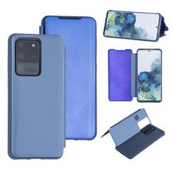 Samsung Galaxy S20 Ultra Lichtblauw Booktype hoesje - Hard plastic