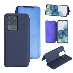 Samsung Galaxy S20 Ultra Diepblauw Booktype hoesje - Hard plastic