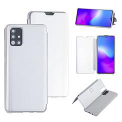 Uniq accessory Samsung Galaxy A51 Silver Book type case - Hard plastic