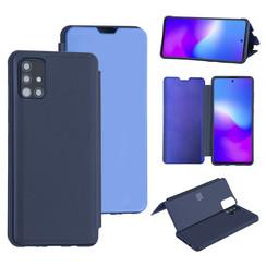 Uniq accessory Samsung Galaxy A51 Deep Blue Book type case - Hard plastic