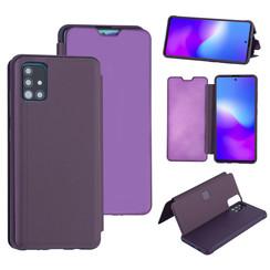 Uniq accessory Samsung Galaxy A51 Purple Book type case - Hard plastic