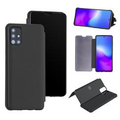 Uniq accessory Samsung Galaxy A71 Black Book type case - Hard plastic