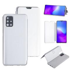 Uniq accessory Samsung Galaxy A71 Silver Book type case - Hard plastic