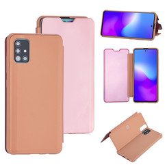 Samsung Galaxy A71 Rose Gold Booktype hoesje - Hard plastic