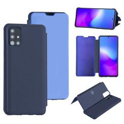 Uniq accessory Samsung Galaxy A71 Deep Blue Book type case - Hard plastic