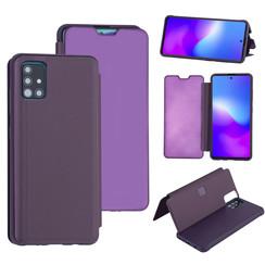 Uniq accessory Samsung Galaxy A71 Purple Book type case - Hard plastic