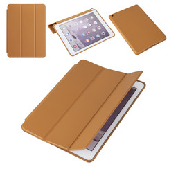 Apple iPad 9.7 inch (2017) Light Brown Book Case Tablet - PU Leather