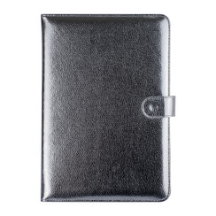 Universal 10 inch Zilver Book Case Tablethoes - PU-leer