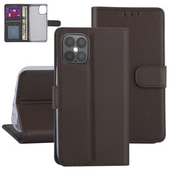 Apple iPhone 12 Pro Max Brown Book type case - Card holder