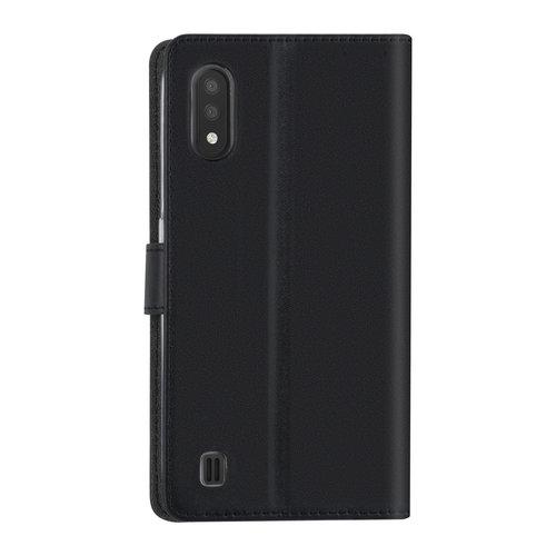 Andere merken Samsung Galaxy A01 Black Book type case - Card holder