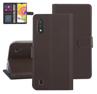 Samsung Galaxy A01 Bruin Booktype hoesje - Kaarthouder