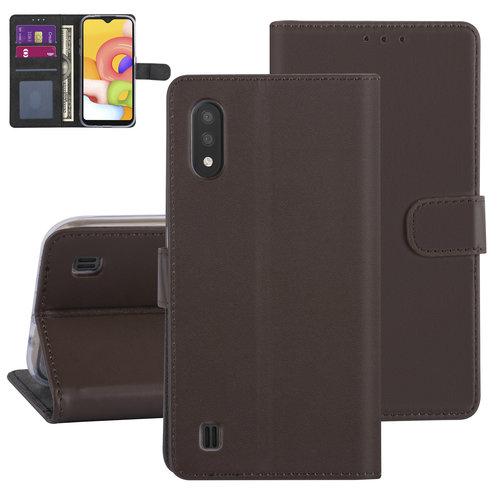 Andere merken Samsung Galaxy A01 Brown Book type case - Card holder
