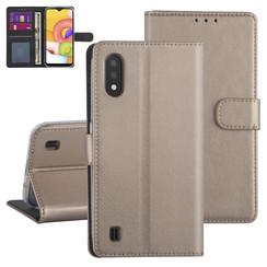 Samsung Galaxy A01 Gold Book-Case hul - Kartenhalter