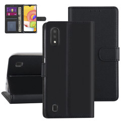 Samsung Galaxy A01 Black Book type case - Card holder