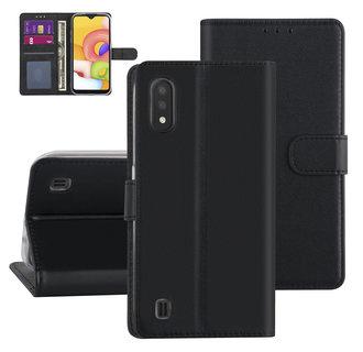 Samsung Galaxy A01 zwart Booktype hoesje - Kaarthouder