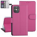 Andere merken Apple iPhone 12 Pro Max Hot pink Book type case - Card holder