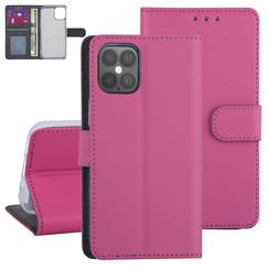 Apple iPhone 12 Pro Max Hot pink Book-Case hul - Kartenhalter