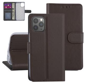 Apple iPhone 12-12 Pro Bruin Booktype hoesje - TPU