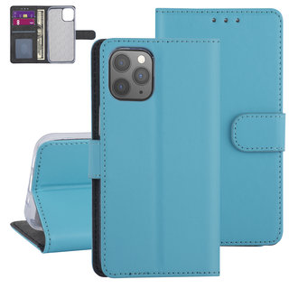 Apple iPhone 12-12 Pro Lichtblauw Booktype hoesje - TPU