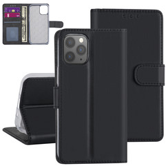 Apple iPhone 12 Mini Zwart Booktype hoesje - TPU