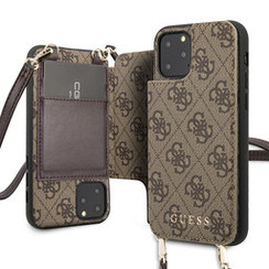 Guess Apple iPhone 11 Pro Max Brown Back cover case - 4G Crossbody