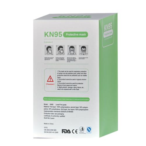 Andere merken 50x Mondkapjes KN95 mondmaskers 4 Laags - Wit
