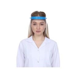 Face shield met spatscherm en 2 extra schermen - Blauw