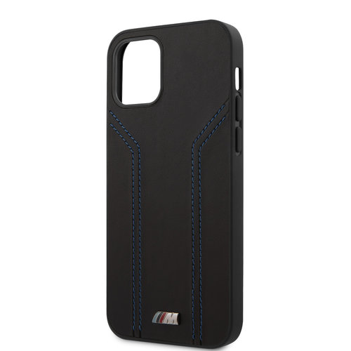 BMW BMW Apple iPhone 12 Pro Max Black Back cover case - Blue lines