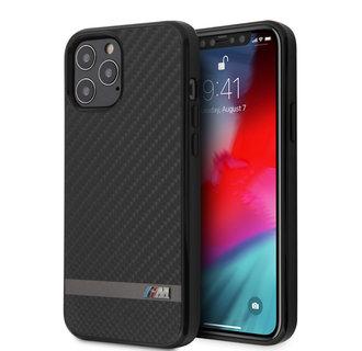 BMW Apple iPhone 12 / 12 Pro Black Back cover case - Carbon