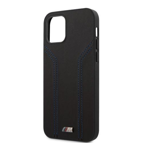 BMW BMW Apple iPhone 12 / 12 Pro Black Back cover case - Blue lines