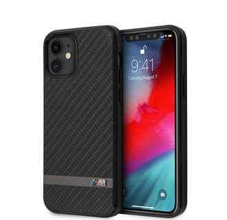 BMW Apple iPhone 12 Mini Black Back cover case - Carbon