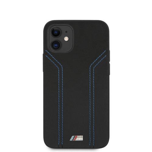 BMW BMW Apple iPhone 12 Mini Black Back cover case - Blue lines