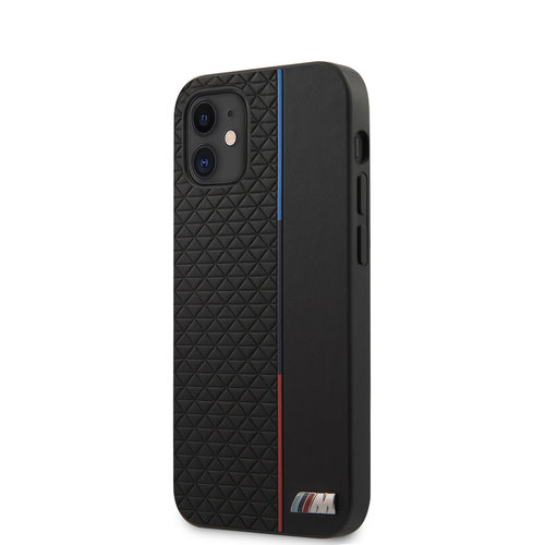 BMW BMW Apple iPhone 12 Mini Black Back cover case - Triangles Tricolor