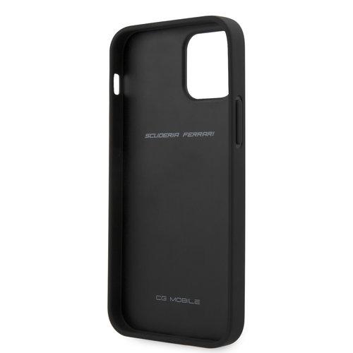 Ferrari Ferrari Apple iPhone 12 / 12 Pro Red Back cover case - Black Stripe