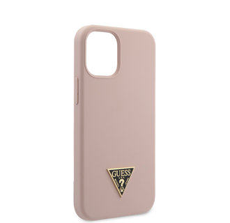 Guess Apple iPhone 12 Mini Roze Backcover hoesje - silicone