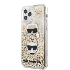 Karl Lagerfeld Apple iPhone 12 Pro Max Goud Backcover hoesje - Liquid Glitter