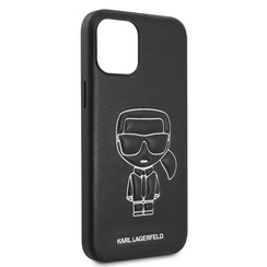 Karl Lagerfeld Apple iPhone 12 Pro Max Wit Backcover hoesje - Embossed