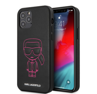 Karl Lagerfeld Apple iPhone 12 / 12 Pro Pink Back cover case - Embossed