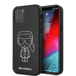 Karl Lagerfeld Apple iPhone 12 / 12 Pro Wit Backcover hoesje - Embossed