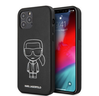 Karl Lagerfeld Apple iPhone 12 / 12 Pro White Back cover case - Embossed