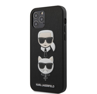 Karl Lagerfeld Apple iPhone 12 / 12 Pro Black Back cover case - Saffiano