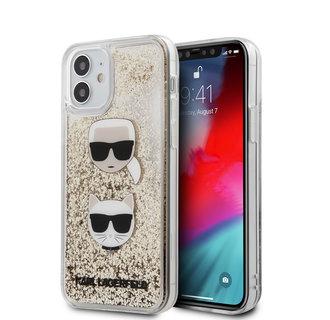 Karl Lagerfeld Apple iPhone 12 Mini Goud Backcover hoesje - Liquid Glitter
