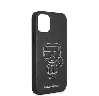 Karl Lagerfeld Apple iPhone 12 Mini White Back cover case - Embossed