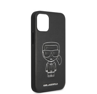 Karl Lagerfeld Apple iPhone 12 Mini Wit Backcover hoesje - Embossed