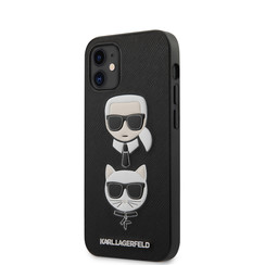 Karl Lagerfeld Apple iPhone 12 Mini zwart Backcover hoesje - Saffiano